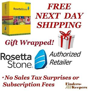 Gift Wrapped Rosetta Stone Spanish 1 2 3 4 5 Homeschool +Headset Latin America