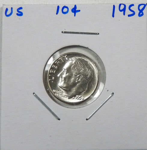 1958 Silver Roosevelt Dime Choice/Gem Uncirculated