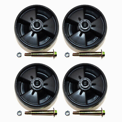 4PK Deck Wheels W/ Nuts & Bolts Compatible With MTD 734-04155 Toro 112-0677