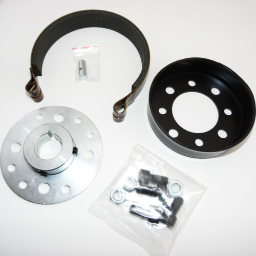 """Go Kart Brake Band Kit Includes Hub, Drum, and Brake Band W Pin For 1"""" Axle"""
