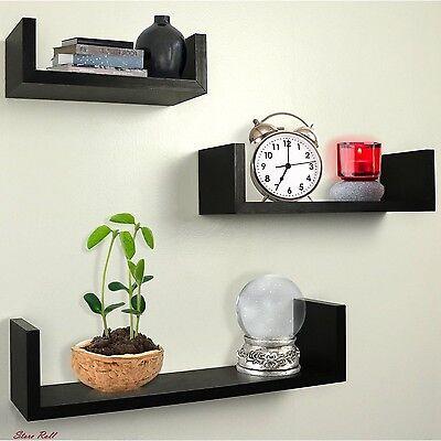 Floating Shelves Infuriate Mount Living Room Accessories Decor Espresso Set Of 3 New