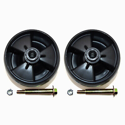 2 PK Deck Wheels W/ Nuts & Bolts Compatible With MTD 734-04155 Toro 112-0677