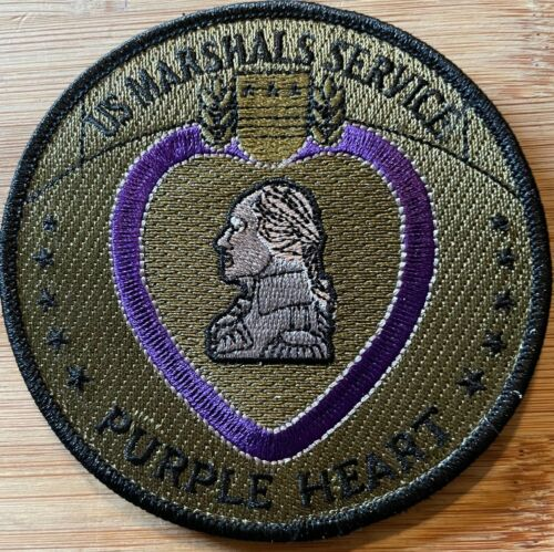 US Marshals Service - Purple Heart - injured in the line of duty OD/Purple Patch