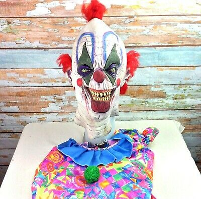2002 Collegeville Imagineering Oversized Killer Clown Mask and Suit L/XL RARE!