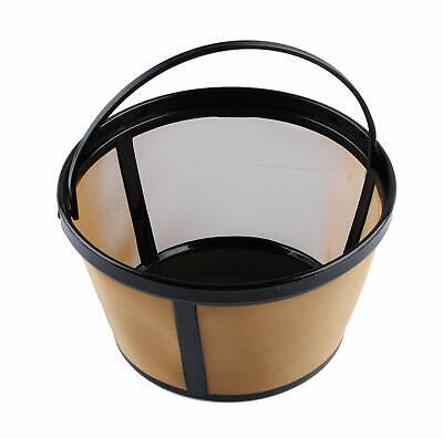 Permanent Coffee Filter for 8-12 Cup Mr. Coffee Reusable Basket-Style Gold Tone