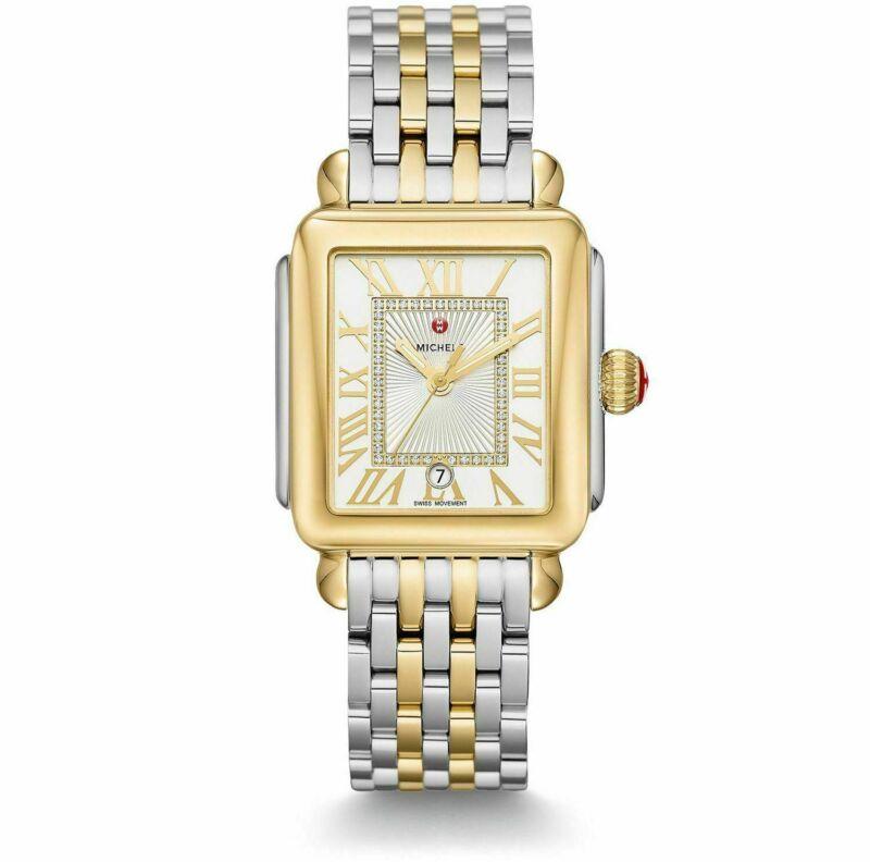 Michele Deco Madison 2tone Diamond Dial Roman Numerals Lady