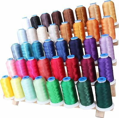 BEST 40 COLOR MACHINE EMBROIDERY THREAD SET - HUGE 1000 METER POLYESTER (Best Machine Embroidery Thread)