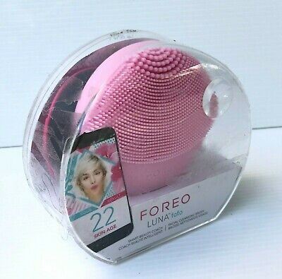Foreo Luna Fofo Pearl pink silicone anti aging Facial Cleansing Brush device NEW