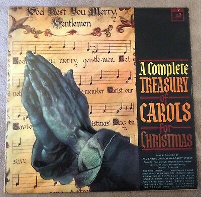 LP A COMPLETE TREASURY OF CAROLS FOR CHRISTMAS 1965.