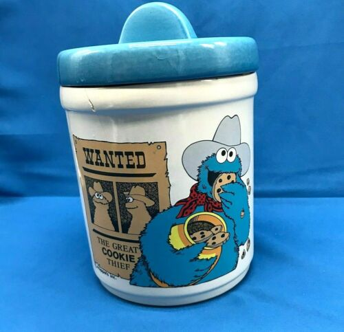 Vintage Muppets Sesame Street 1980s Cookie Monster Cookie Jar Made in USA