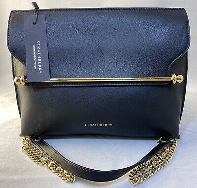 New Strathberry Stylist Leather Shoulder Bag - Black