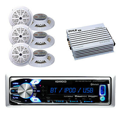Best Marine In Dash AUX USB AM/FM Bluetooth Radio, 6 x 5.25