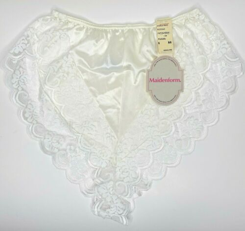 Vintage Maidenform Chantilly Lace NWT Size 6 Hi Cut Style P89364013 White