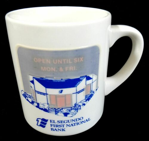Vintage El Segundo First National Bank Coffee Mug