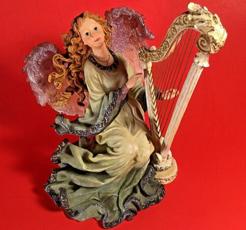 BOYDS CHARMING ANGELS COLLECTION FIGURINE ARIA GUARDIAN OF HARMONY PLAYING HARP