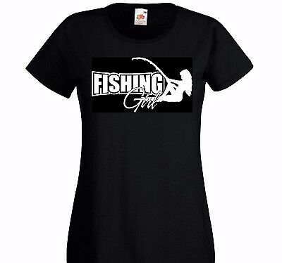 Fish Girl Fitted Shirt - Fishing girl . T Shirt Lady-Fit