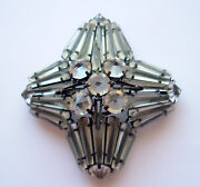 Art Deco Glass Brooch