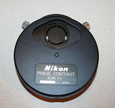 Nikon Diaphot Phase Contrast Elwd 0.3 Condenser Turret Ph1 Ph2 Ph3 Phl Parts