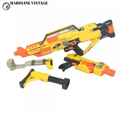 Genuine NERF Stampede ECS / Barricade  RV-10 & 2 Stocks N'Strike 🔫