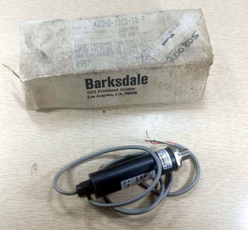 1 NEW BARKSDALE 403H2-12CG-10-P PRESSURE TRANSDUCER NIB ***MAKE OFFER***