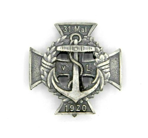 WW1 Imperial German Marine Brigade Von Lowenfeld Merit Cross Badge 1