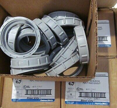 60-pack Thomas Betts Steel City Bu606 Insulated Bushings For 2 Rigid Conduit