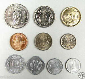 Pakistan-coins-set-of-10-pieces-AU-UNC
