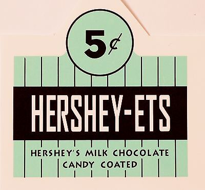HERSHEY-ETS FIVE CENT, COINOP, VENDING,  WATER SLIDE DECAL # DH1049