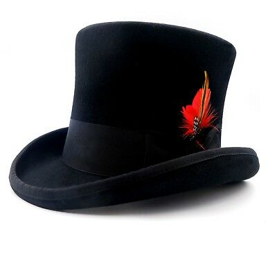 High Top Hat/Wool Felt Cylinder Hat/ Stove pipe Hat /Topper  18cm(7