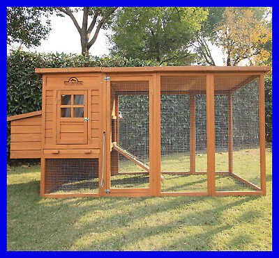 """Pets Imperial® Large 8ft 2"""" Chicken Coop Hen Poultry Ark House Hutch Run Nest"""