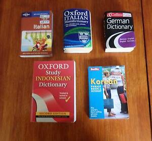 Language dictionaries - phrase books, Indonesia, Korea, Italy, Ge Greenslopes Brisbane South West Preview