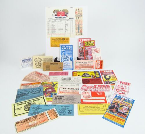Vintage Circus Tickets Large lot Mostly New Ringling Bros
