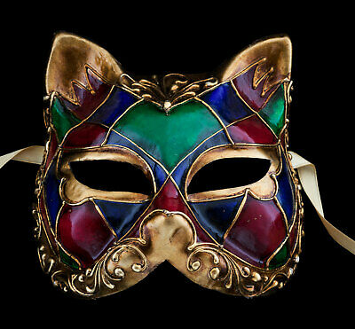 Mask from Venice Cat Gatto Ibis in Paper Mache Carnival Venetian 1313 V81