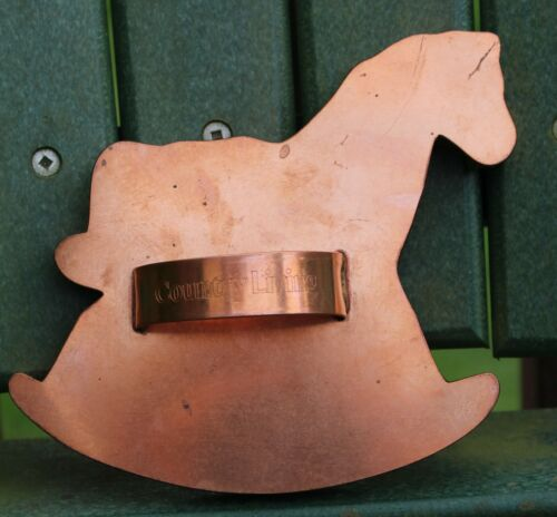 Copper Cookie Cutter ~ Michael Bonne ~ ROCKING HORSE ~ Country Living 1997