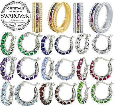 Happy Rainbow Cloud Silver & Crystal Stud Earrings, Rainbow Earrings