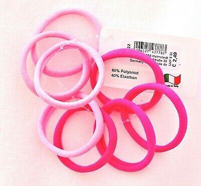 8 Stück elastische Haargummis Haarbinder Zopfgummi Haarband Neon pink rosa Gummi Neon