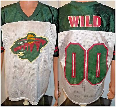 Minnesota Wild Inaugural Season Jersey (Medium) 2000 Vintage First Year Hockey