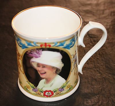 Aynsley Bone China Queen Elizabeth II Ltd Ed Mug Cup 80th Birthday April 21 2006