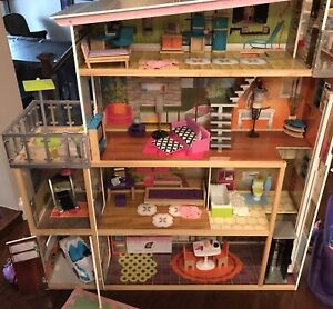 Kidkraft 4 Story Doll house with furniture