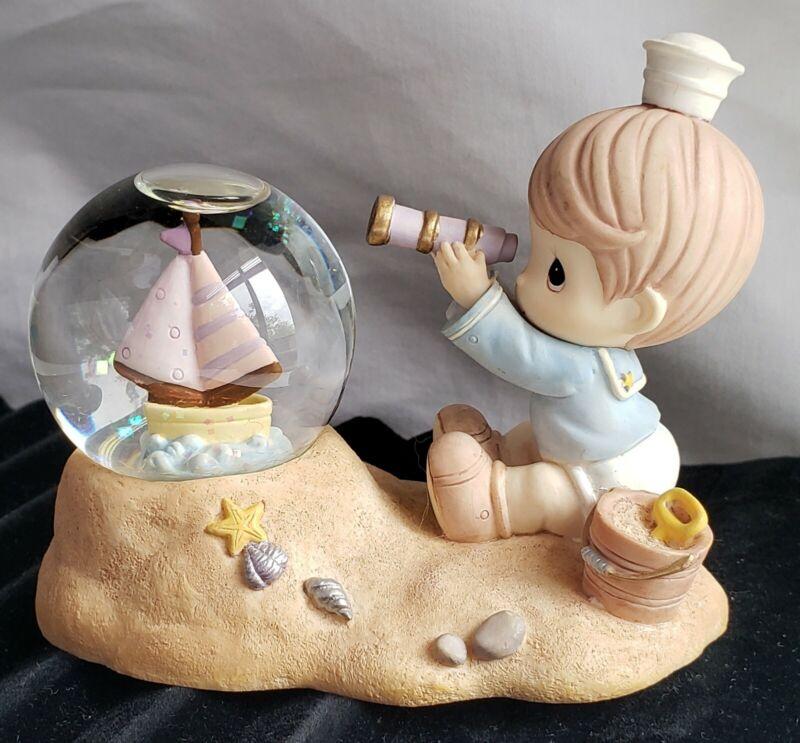 """1998 Rare """"Precious Moments"""" by ENESCO Sailor Boy Snow Globe"""
