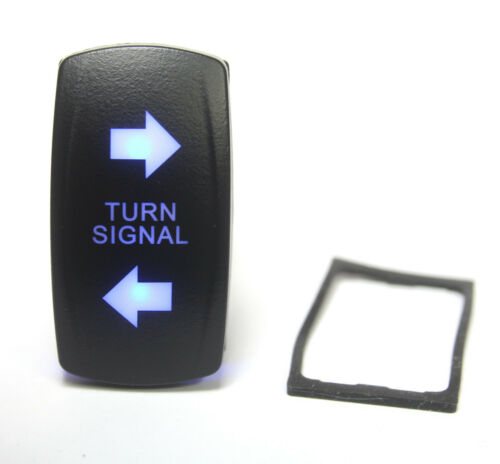 Turn Signal Lighted Switch Rocker SPDT,  20A 12VDC Illuminated Blue 4pin