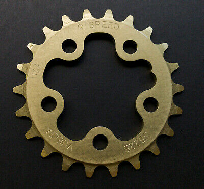 Aerozine Chain Ring 7075AL T6 CNC Machined 3x9 speed BCD104mm//44-32-22T Shimano