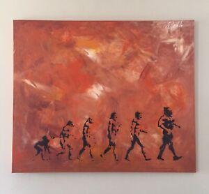 Alpha-Lution By Adam Todd Street Art Canvas Signed 120 x 100cm