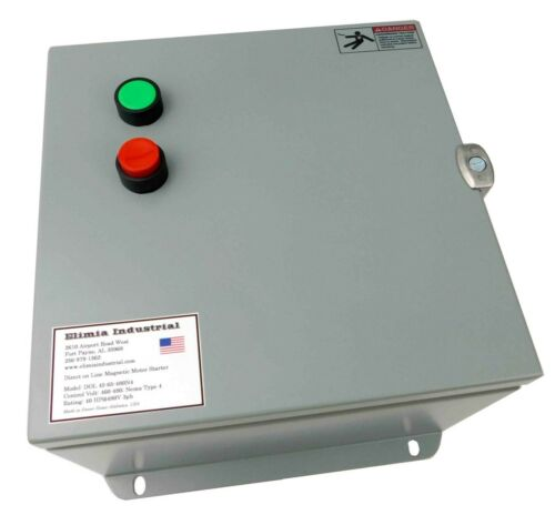 Elimia DOL 45-65-230N4 Motor Starter 208V 240V 45-65 Amp 20HP @ 230V Nema 4 UL