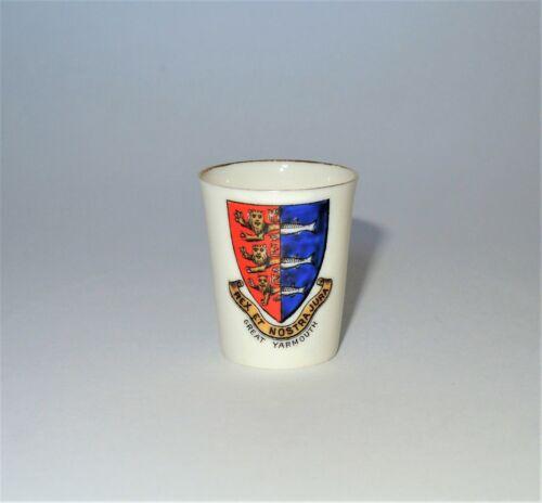 W. H. GOSS Crested Heraldic China Miniature Model of Colchester Vase Hailsham