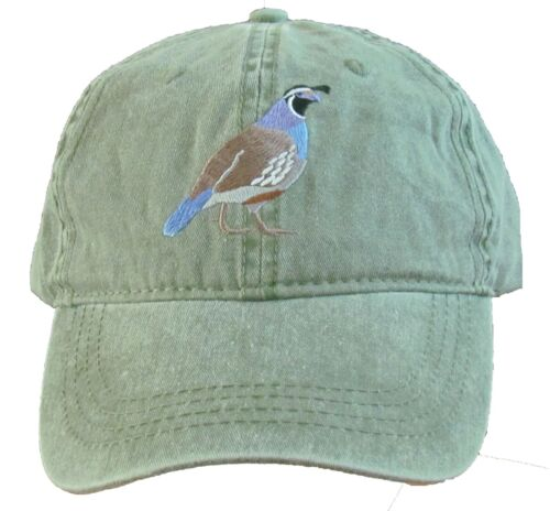 California Quail Embroidered Cotton Cap NEW Valley Quail