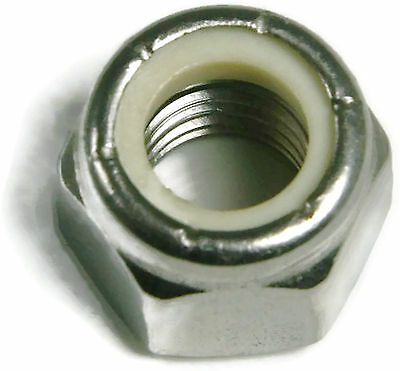 Stainless Steel Nylon Insert Lock Hex Nut UNC 1/4-20, Qty 100