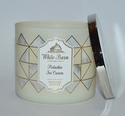 Ice Cream Scented Candle - BATH & BODY WORKS PISTACHIO ICE CREAM SCENTED CANDLE 3 WICK 14.5OZ LARGE VANILLA