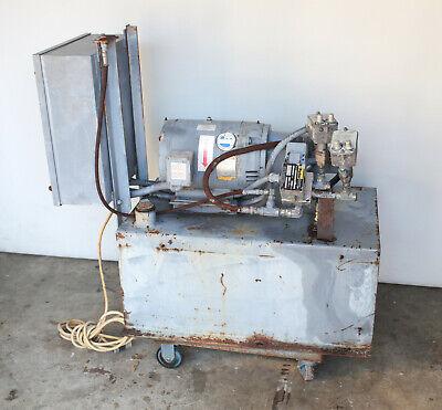 Tl Vickers Parker Hydraulic Power Unit 30 Gal 10hp 230v 3-ph 3000 Psi