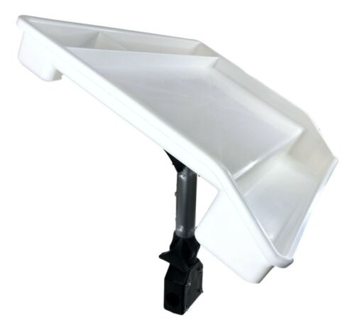 Pactrade Marine Fishing White Fillet Table Bait Cutting Board Single Rail Mount